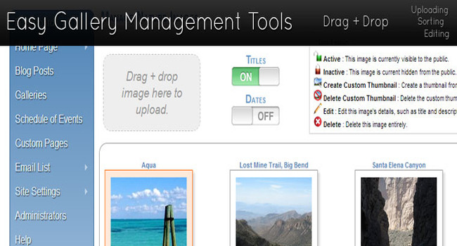 Easy Gallery Management Tools